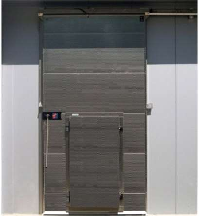SLIDING DOOR WITH HINGED DOOR INSIDE