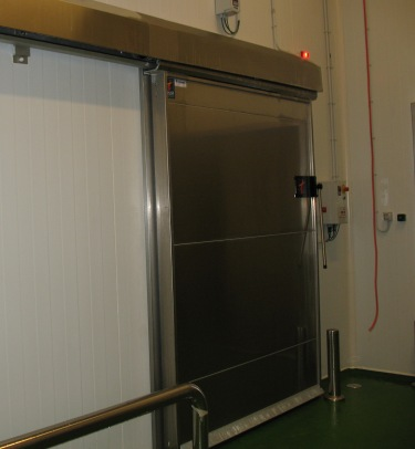 Cold storage sliding door th3 tane hermetic - Puerta corredera industrial ...