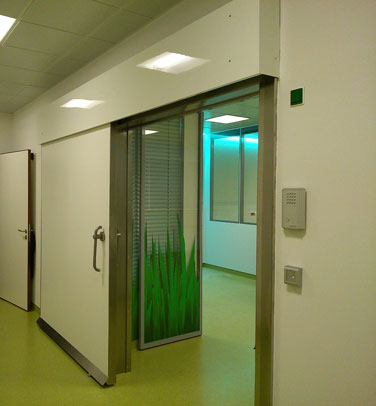 TH7 EI HERMETIC FIRE RATED HEALTHCARE SLIDING DOOR