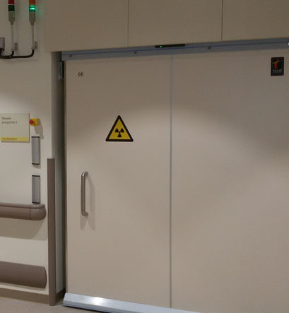 LEADED SLIDING DOOR FOR RADIOTHERAPY X-RAY BUNKERS