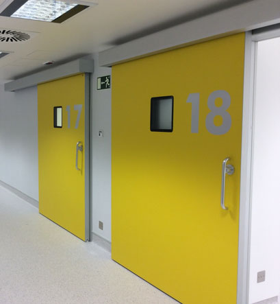 TH8 HERMETIC HEALTHCARE SLIDING DOOR FOR OPERATING THEATRES