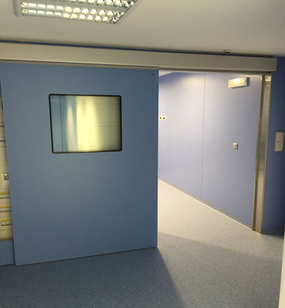 MEDICAL SLIDING DOOR FOR X-RAY ROOMS