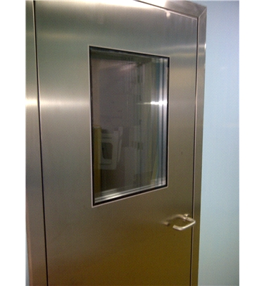FLUSH STAINLESS STEEL SERVICE DOOR FOR CLEANROOMS - LABORATORIES